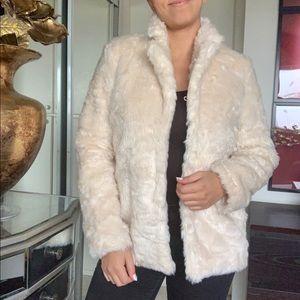 Cream Forever 21 faux fur coat